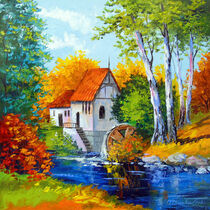 Mill by the river von Olha Darchuk