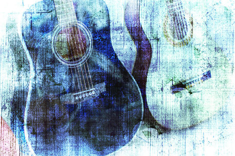 Guitar-abstract-blue