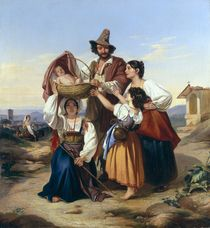 Italian Herdsman by Leopold Pollak