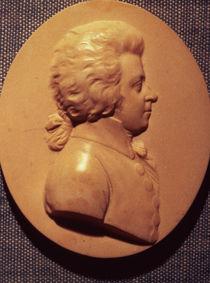 Portrait medallion of Wolfgang Amadeus Mozart  by Leonhard Posch