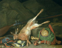 Still Life of a Hare with Hunting Equipment  von Hieronymus the Elder Galle