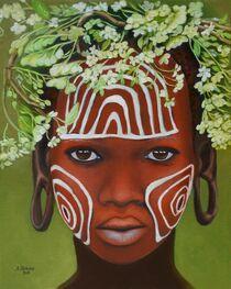 Afrikanische Schönheit mit Kopfschmuck von Marita Zacharias