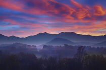 Sunrise in the Blue Ridge Mountains von William Schmid