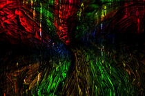 Abstractart :Melting colors von Michael Naegele