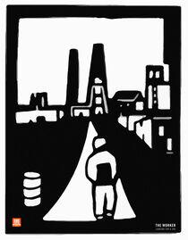 The Work – looking for a Job Poster  von Robert H. Biedermann