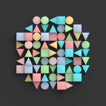Kreis aus geometrischen Körpern von dresdner