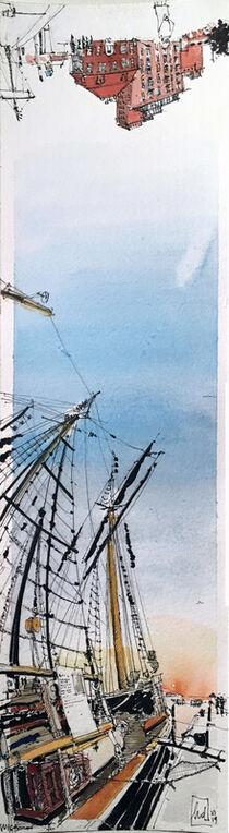 'Vertikalpanorama: Wismar II' von Holger Diesing