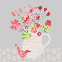Bird with a Jug of Flowers by Nic Squirrell