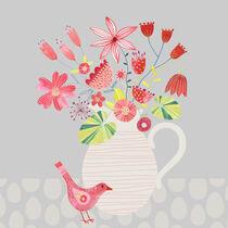 Bird with a Jug of Flowers von Nic Squirrell