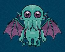 Cute Baby Cthulhu Monster by John Schwegel