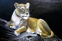 ruhende Löwin von Jürg Meyerholz