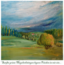 Landscape - Dream of healthey countries Poster von Matthias Kronz