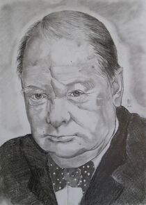 Winston Churchill by Marion Hallbauer