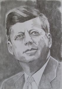 John F. Kennedy by Marion Hallbauer
