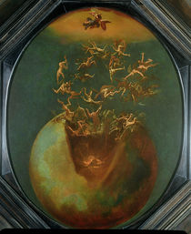Fall of Satan and the Rebel Angels from Heaven  by Jakob Isaaksz Swanenburgh