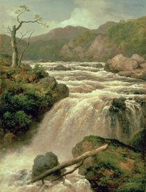 Waterfall on River Neath von James Burrell Smith