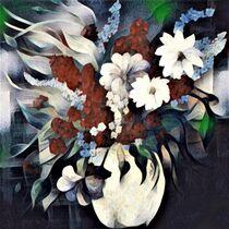 Flowers in a White Vase by eloiseart