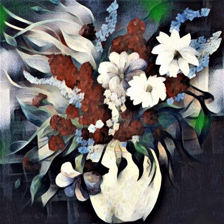 Flowers-in-a-white-vase-2