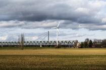 Rheinbrücke Karlsruhe von Hartmut Binder