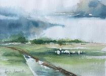 Schafe am Innendeich von Sonja Jannichsen