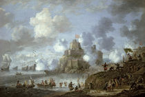 Mediterranean Castle under Siege from the Turks  by Jan Peeters
