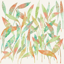 Hosta Leaves Watercolor by Nic Squirrell