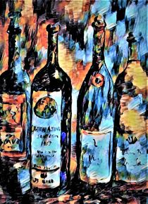 Wine Bottle Quartet von eloiseart
