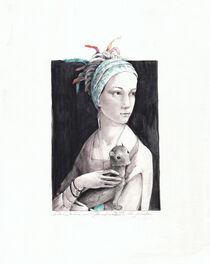 Dame mit Hermelin 2021 von Christine Scharfen