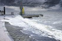 Sturm an der Nordsee 4 von Rolf Müller