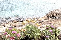 Blumen am Wasser von Gabi Kaula