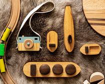 Handmade wooden toys - lay flat photography by Valentijn van der Hammen