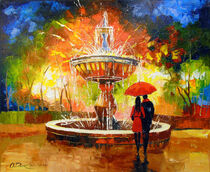 Romantic meeting at the fountain by Olha Darchuk