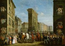 Passage of Allied Sovereigns in Front of the Porte Saint-Denis von Jean Zippel