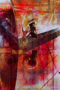 Schiffsbug mit Wasserspiegelung_abstrakt von Manfred Rautenberg