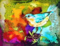 Little Blue Bird Madness by Miki de Goodaboom