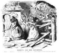 Rebecca and her Daughters  von John Leech
