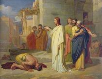 Jesus Healing the Leper von Jean-Marie Melchior Doze
