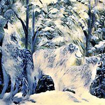 Arctic Snow Wolves von eloiseart
