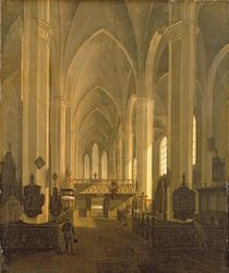 Interior view of St. John's Church in Hamburg  von Jess Bundsen