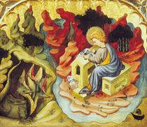 St. John on Patmos  von Joan or Juan Mates