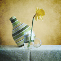Striped Green Vase and Narcussus * Gestreifte grüne Vase und Narzisse 3(9) by Nikolay Panov