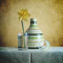 Striped Green Vase and Narcussus * Gestreifte grüne Vase und Narzisse 7(9) von Nikolay Panov