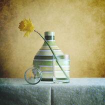 Striped Green Vase and Narcussus * Gestreifte grüne Vase und Narzisse 9(9) by Nikolay Panov