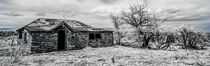 Abandoned farmhouse in ghost town von Barbara Magnuson & Larry Kimball