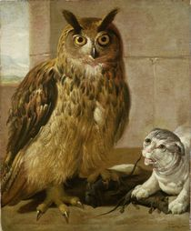 Eagle Owl and Cat with Dead Rats  von Johann Heinrich Roos