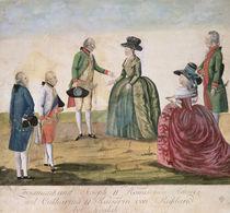 Meeting between Joseph II of Germany  von Johann Hieronymus Loeschenkohl