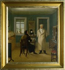 Goethe Dictating to his Clerk John von Johann Joseph Schmeller