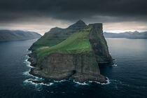 Steep cliffs of Kalsoy Island, Faroe Islands by Bastian Linder