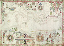 Map of the Mediterranean von Johannes Oliva