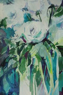 Weiße Rosen in der Vase von Sonja Jannichsen